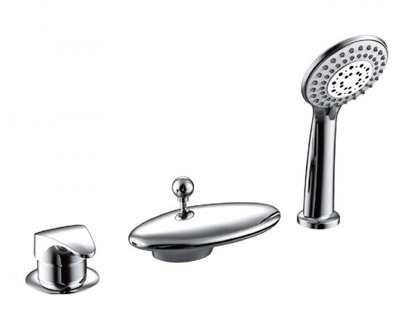 Смеситель для ванны встраиваемый на 3 отверстия Bravat NIAGARA F5140197СР-RUS