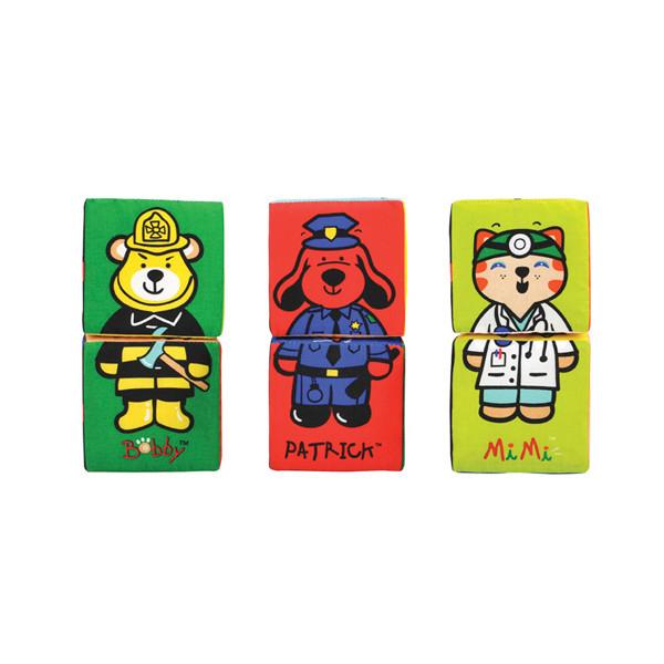 K's Kids Мягкие развивающие кубики-пазлы, 6 шт.
