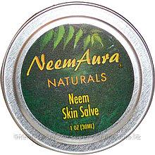 Бальзам для кожи с нимом (Neem Skin Salve), 1 унция (30 мл), Neemaura Naturals Inc