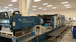 KBA Rapida 104-5-L б/у 1994г - пятикрасочная печатная машина с лаком