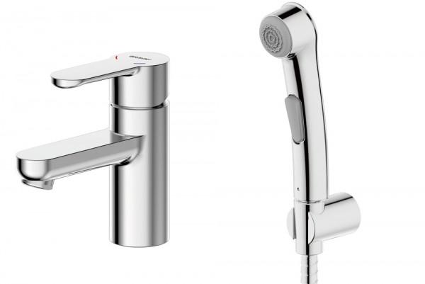 Смеситель для умывальника с гигиеническим душем Bravat Stream F13783С-3