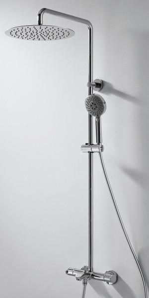 Смеситель термостатический для ванны с верхним душем  Bravat WATERFALL F639114C-A-RUS