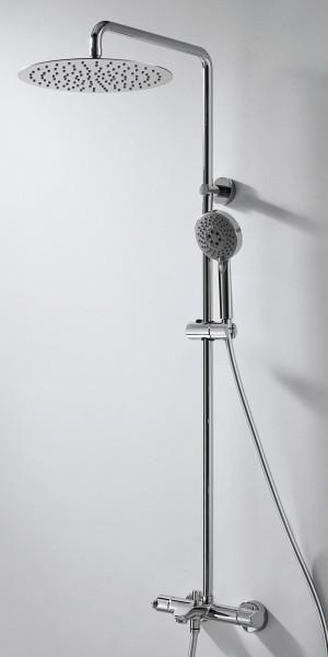Смеситель термостатический для ванны с верхним душем  Bravat WATERFALL F639114C-A3-RUS