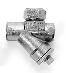"""Конденсатоотводчик термодинамический из нержавеющей стали резьбовой 1/2"""" с встроенным фильтром-грезевиком"""