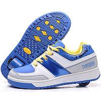 Кроссовки на роликах, голубые, фото 1