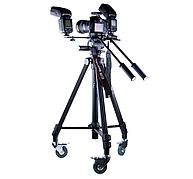 Штатив для видеокамер с колесиком Fotomate VT-7005D