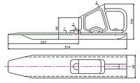 Башмак железнодорожный искробезопасный БИ-2