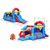 Игровой надувной центр Happy Hop Паровозик 9054N 490x215x230 см