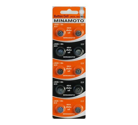 Батарейка MINAMOTO AG9, LR45, LR936, 394, LR45