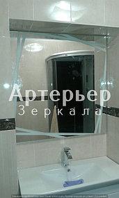Зеркало с пескоструйным рисунком 2
