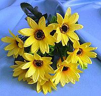 Букет желтых ромашковидных хризантем (искусственный), фото 1