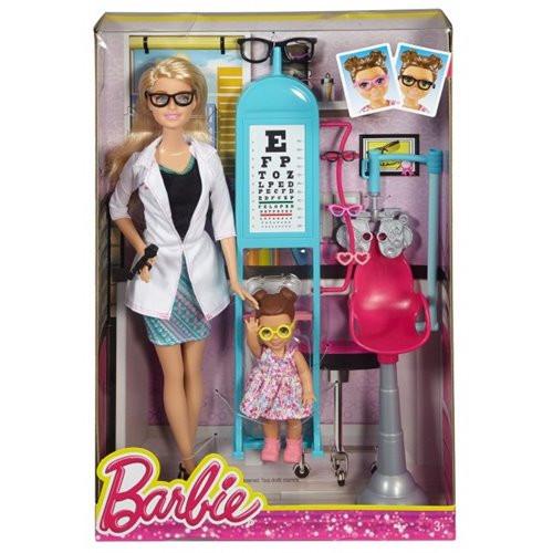 """Barbie """"Профессии"""" Игровой набор """"Кукла Барби - Офтальмолог"""", Кем быть?"""