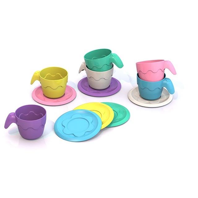 Посуда ШКОДА (6 чашек+6 блюдец) ШКД04
