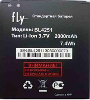 Заводской аккумулятор для Fly IQ450 (BL4251, 2000 mah)