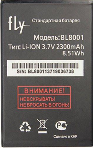 Заводской аккумулятор для Fly IQ4490 Era Nano 4 (BL8001, 2300 mah)