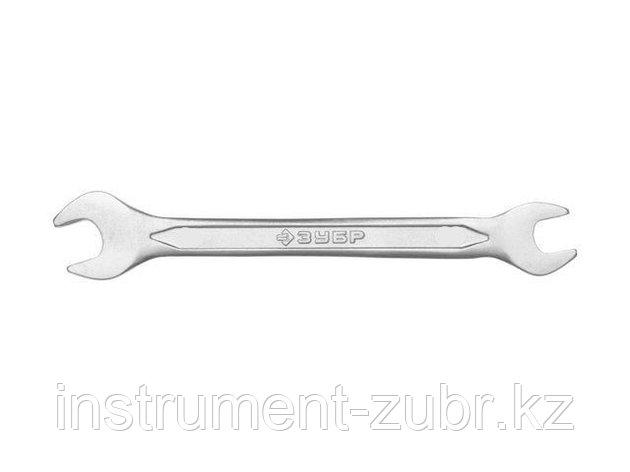 Рожковый гаечный ключ 9 x 11 мм, ЗУБР, фото 2