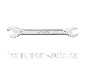 Рожковый гаечный ключ 17 x 19 мм, ЗУБР