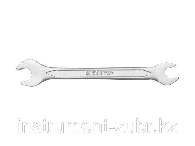 Рожковый гаечный ключ 19 x 22 мм, ЗУБР