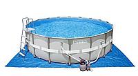Бассейн каркасный 549х132 см, V-26423л, Intex Ultra Frame 28332 песочный фильтр, лестница в комплекте