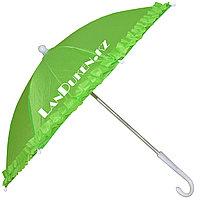 Зонтик для декора с кружевами зеленый (для праздника)
