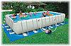 Бассейн каркасный 732х366х132 см, V-31805л, Intex Ultra Frame 28362 с песочным фильтром и аксессуарами