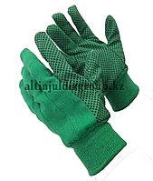 Перчатки зеленый с ПВХ