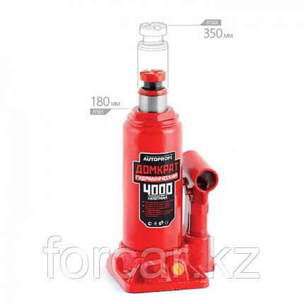 Бутылочный гидравлический домкрат 4 т, фото 2