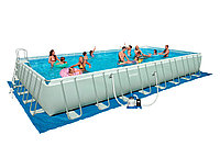 Бассейн каркасный 975х488х132 см, V-55979л, Intex Ultra Frame 28372 с песочным фильтром и аксессуарами , фото 1
