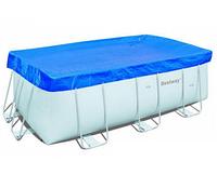 Тент для каркасного бассейна 400х211см (410х226 см), Bestway 58107