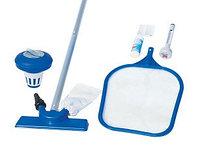 Набор для чистки бассейна (сачек, щетка, термометр, дозатор,ремкомплект), Bestway 58195