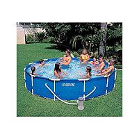 Бассейн каркасный 366х76 см, V-6503л, Intex Metal Frame Pool 28212 фильтр в комплекте