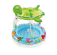 """Бассейн надувной с навесом 102х107 см, V-45л, Intex 57119 """"Морская черепаха"""", фото 1"""