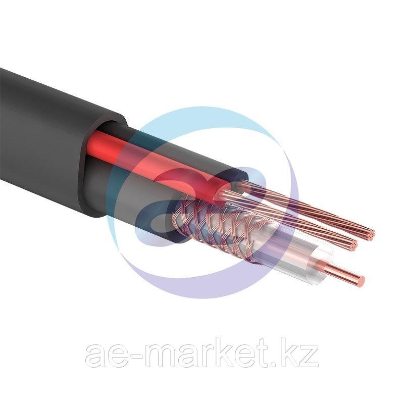 Кабель для видеонаблюдения КВК-П-2 + 2х0,75мм² (CCA), (96), 200м., черный, OUTDOOR  PROCONNECT
