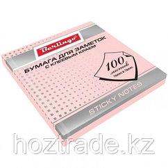 Бумага для заметок 76*76 (100 листов) розовая