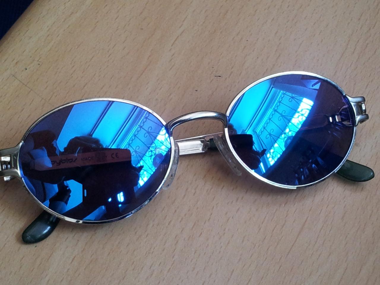 Линза полимерная синяя с зеркальным покрытием - фото 2