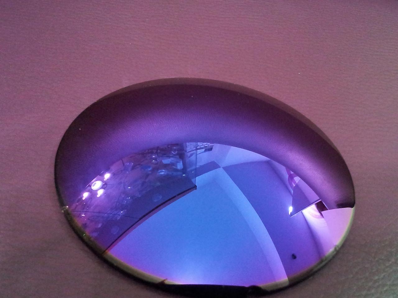 Линза полимерная фиолетовая с зеркальным покрытием - фото 1