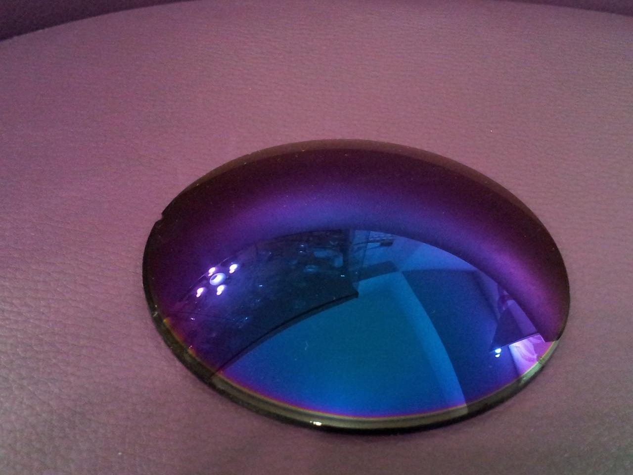 Линза полимерная фиолетовая с зеркальным покрытием - фото 2