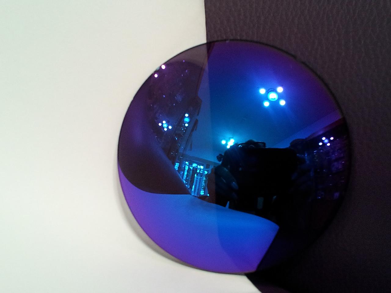 Линза полимерная фиолетовая с зеркальным покрытием - фото 4