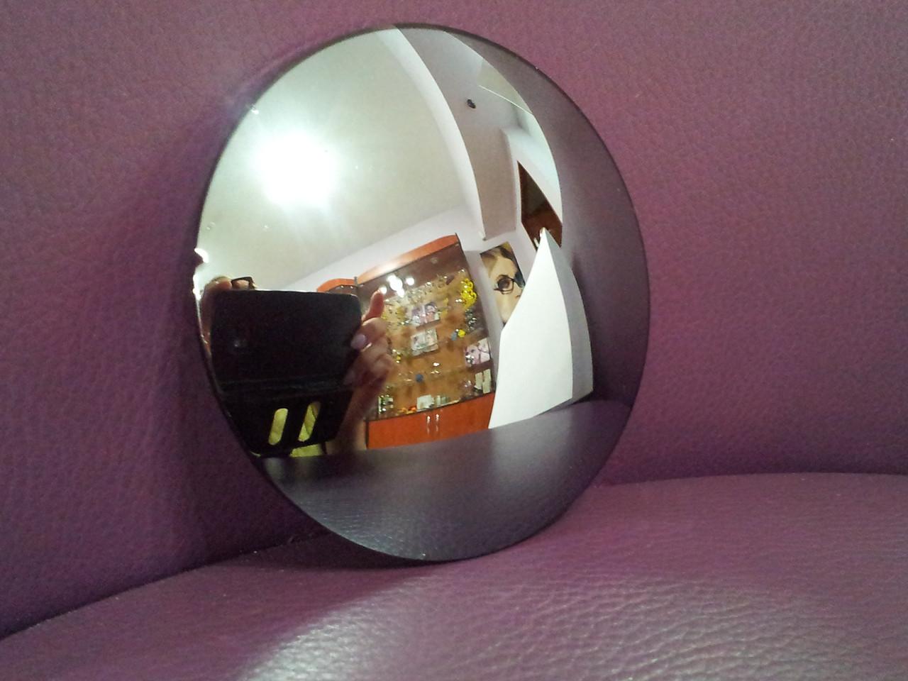 Линза полимерная серебристая с зеркальным покрытием - фото 3