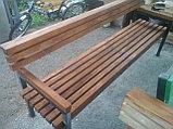 Скамейка садовая - лиственница, цвет, лак, фото 2
