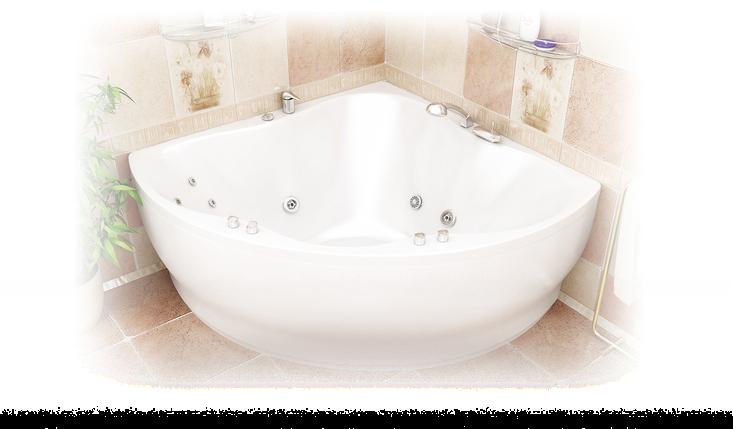 Акриловая ванна Лилия  (1500*1500*420) , фото 2