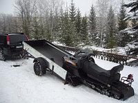 Прицеп бортовой для перевозки снегоходов и квадроциклов