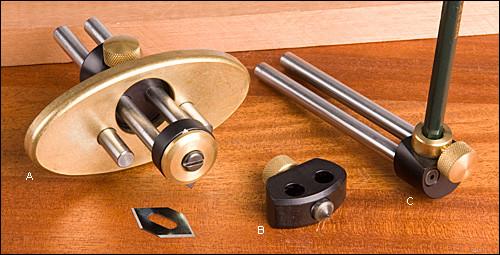 Резак для маркетри String Inlay Tool System, с центр.иглой и держателем для карандаша