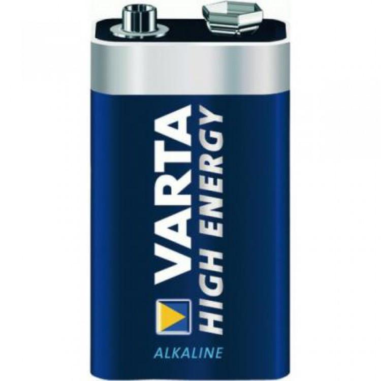 Батарейка VARTA 9v (крона)HIGH ENERGY  6LR61 BL1