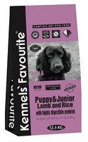 Сухой корм для щенков и юниоров Kennels' Favourite Puppy & Junior Lamb and Rice с ягненком и рисом