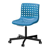 Стул компьютерный СКОЛБЕРГ/СПОРРЕН синий/черный ИКЕА, IKEA, фото 1