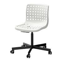 Стул рабочий СКОЛБЕРГ/СПОРРЕН белый/черный  ИКЕА, IKEA , фото 1