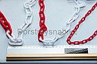 Цепь пластиковая  красно белая 8 мм ТОО ДорСтройСнаб +77079960093, фото 3