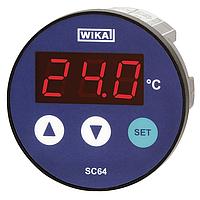 Модель SC64 контроллер температуры с цифровым индикатором WIKA