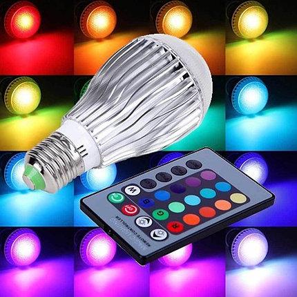 Светодиодная лампа  цветная с пультом MAGIC LIGHTING, фото 2